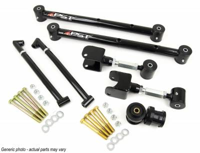 PST - Adjustable Black Tubular Rear Trailing Arm Kit