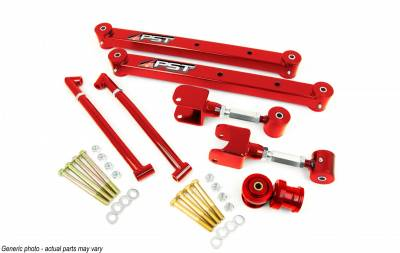 PST - Adjustable Red Boxed Rear Trailing Arm Kit