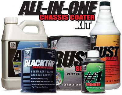 KBS - All-In-One Chassis Coater Kit (Flat Black)