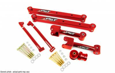 PST - Non-Adjustable Red Boxed Rear Trailing Arm Kit