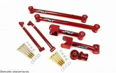 PST - Non-Adjustable Red Tubular Rear Trailing Arm Kit
