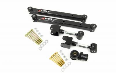 PST - Adjustable Black Boxed Rear Trailing Arm Kit