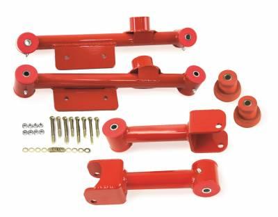 PST - Non-Adjustable Red Tubular Rear Trailing Arm Kit