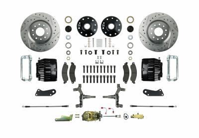 "Right Stuff Detailing - Front Black Manual Disc Brake Conversion Kit (2 1/2"" Drop)"