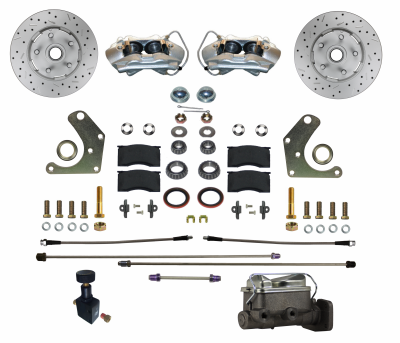 GPS Automotive - Front Manual Disc Brake Conversion Kit