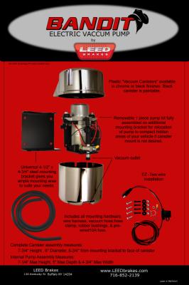 Leed Brakes - Electric Vacuum Pump - Chrome Bandit - Image 6