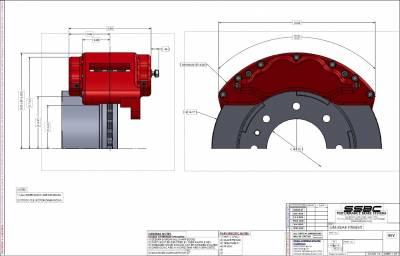 SSBC - SSBC Barbarian Eight Piston Rear Caliper Upgrade Kit - Image 4